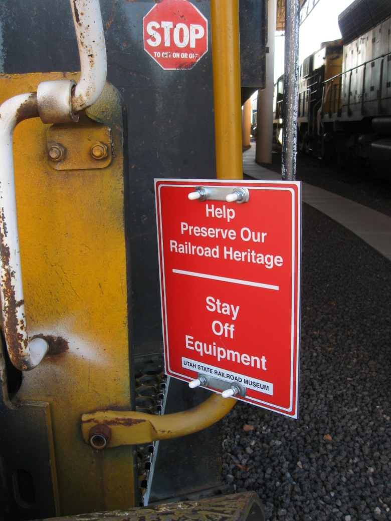 Signage Placed at the Eccles Rail Center
