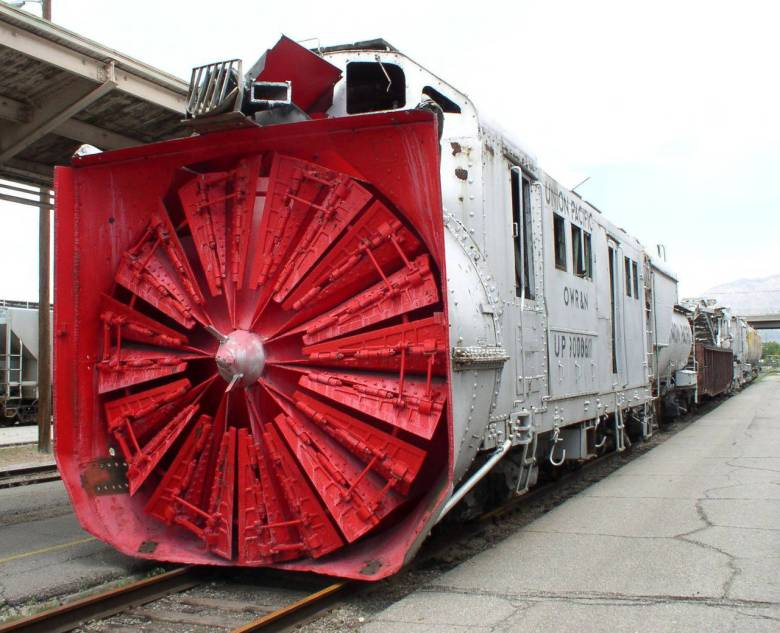 Oregon, Washington Railway & Navigation Co. #900061 Rotary Snow Plow - Photo provided by the Ogden Union Station Collection